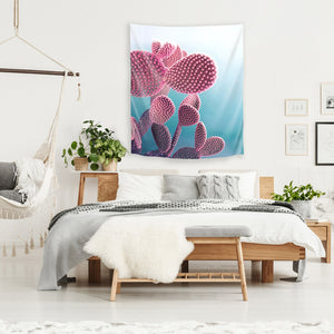 Pastel Cactus by Emanuela Carratoni Tapestry