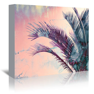 Pastel Palms by Emanuela Carratoni Wrapped Canvas
