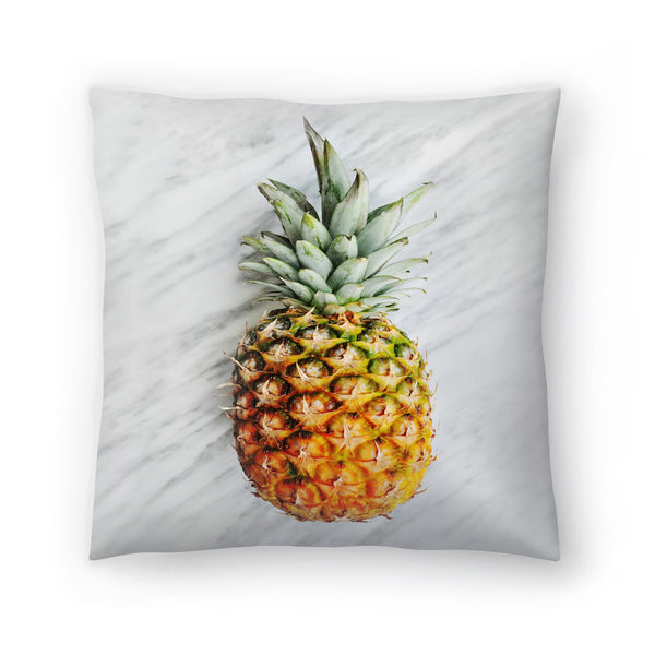 Pineapple On Marble by Emanuela Carratoni Decorative Pillow