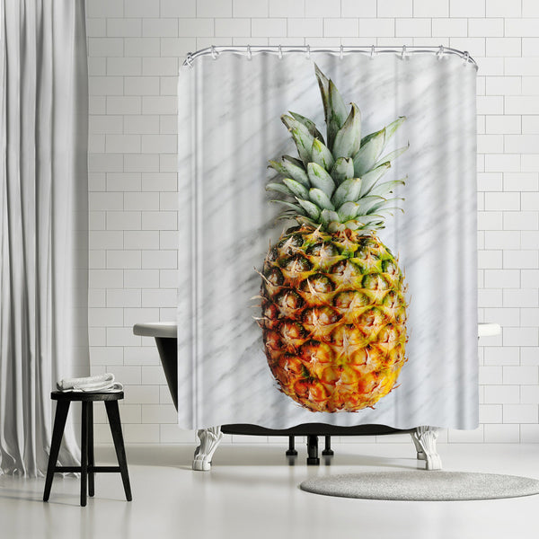 Pineapple On Marble by Emanuela Carratoni Shower Curtain