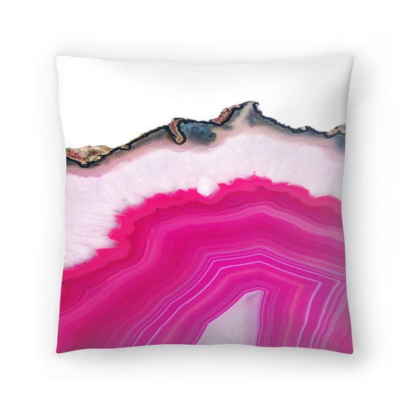 Pink Agate Slice by Emanuela Carratoni Decorative Pillow