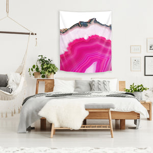 Pink Agate Slice by Emanuela Carratoni Tapestry