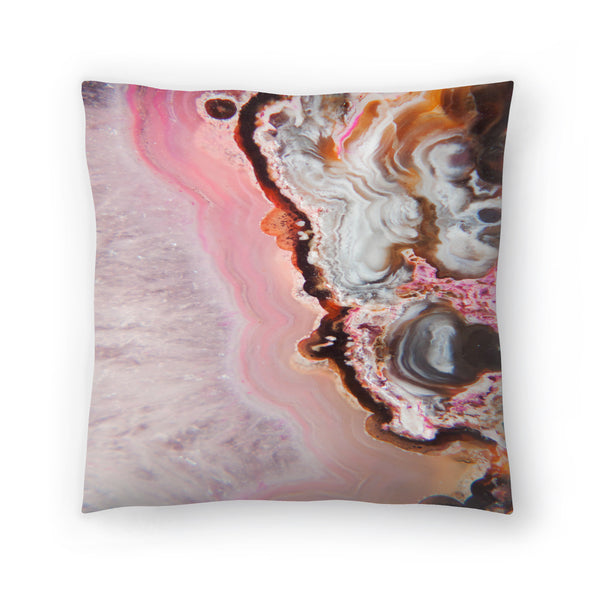 Pink Agate by Emanuela Carratoni Decorative Pillow