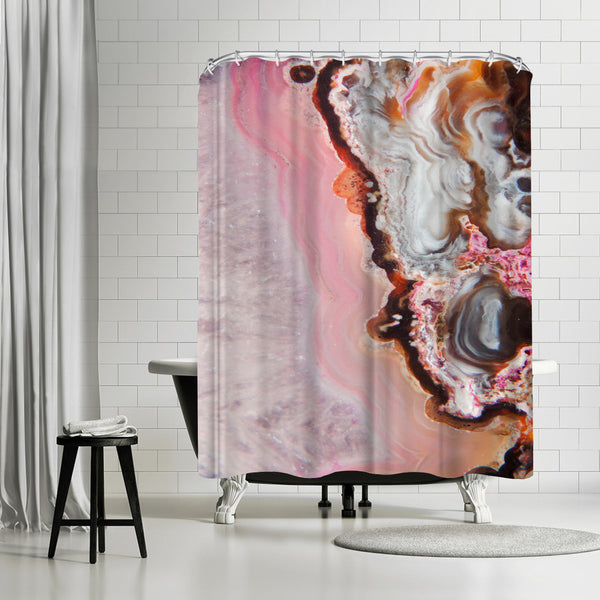 Pink Agate by Emanuela Carratoni Shower Curtain
