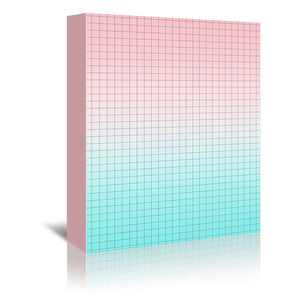 Pink And Light Blue Geometry by Emanuela Carratoni Wrapped Canvas