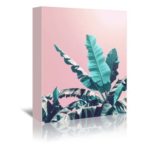 Pink Jungle by Emanuela Carratoni Wrapped Canvas