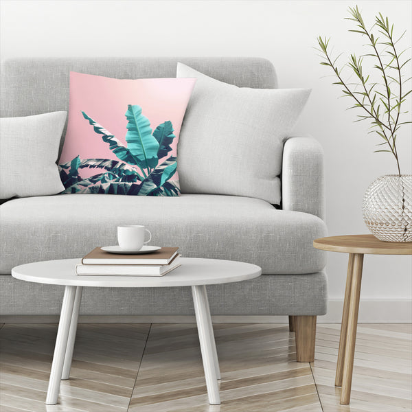 Pink Jungle by Emanuela Carratoni Decorative Pillow