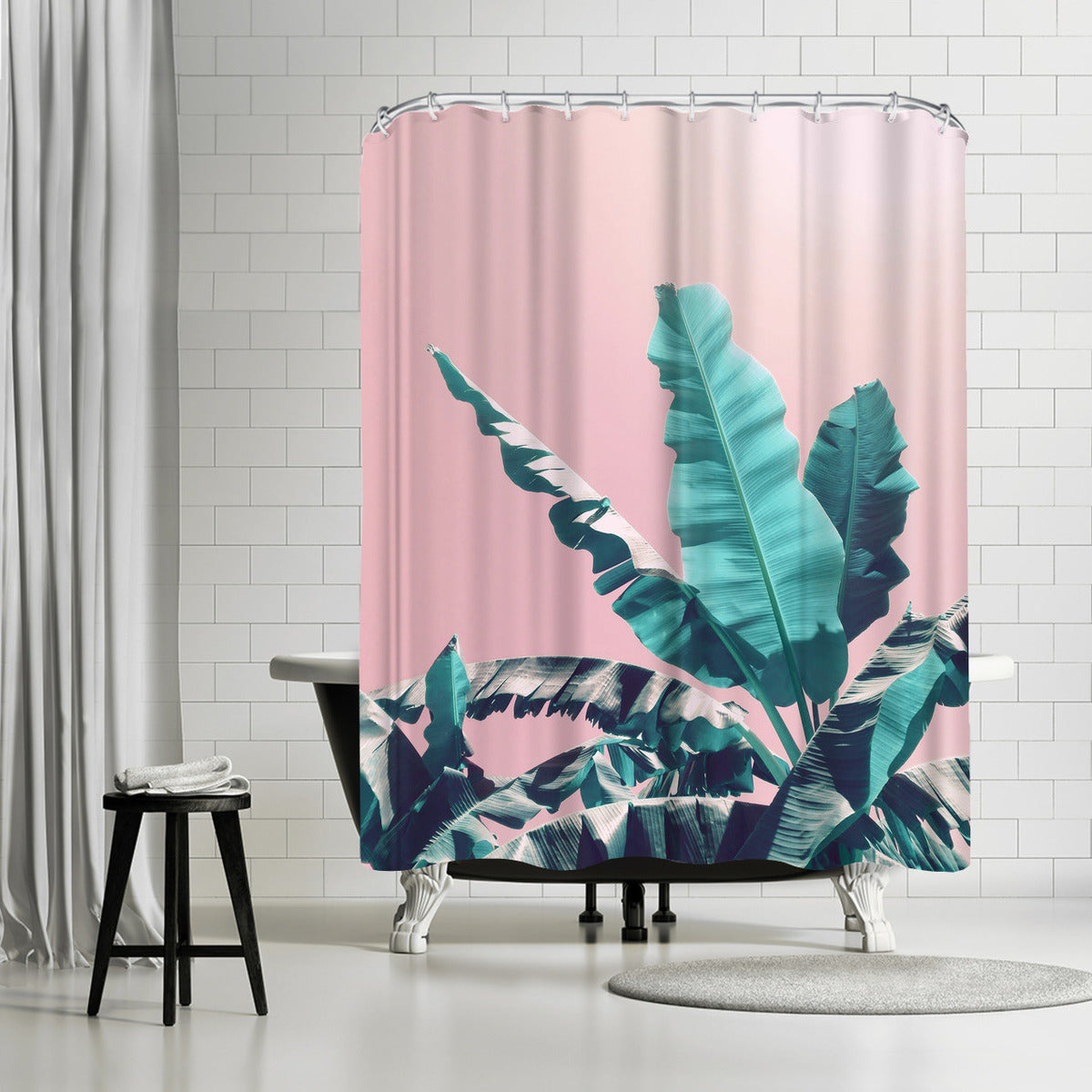 Pink Jungle by Emanuela Carratoni Shower Curtain -  - Americanflat