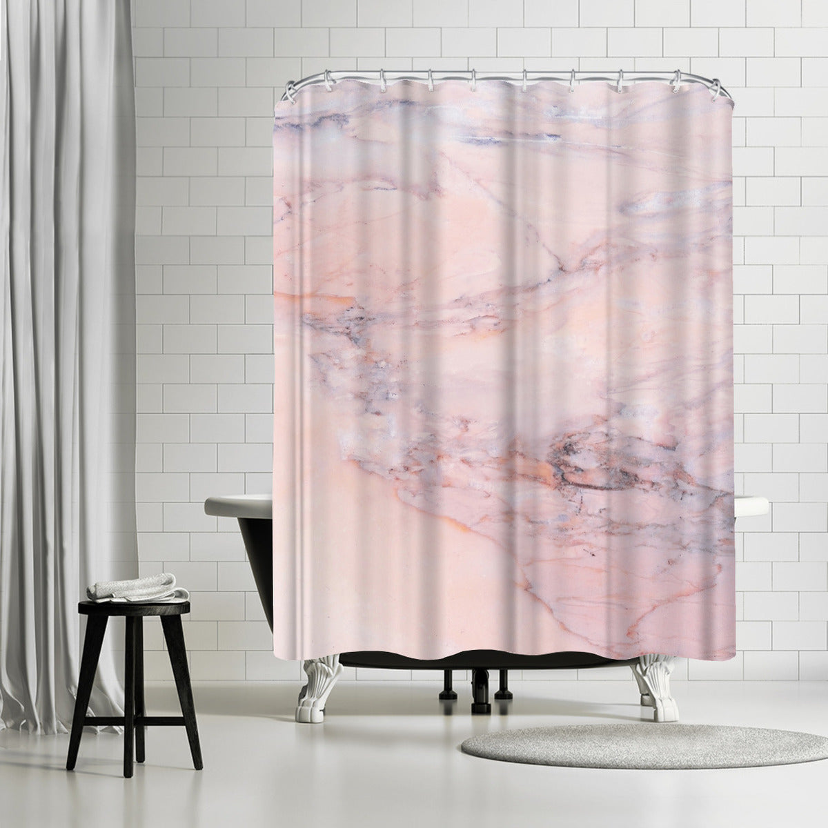 Pink Marble by Emanuela Carratoni Shower Curtain - Shower Curtain - Americanflat