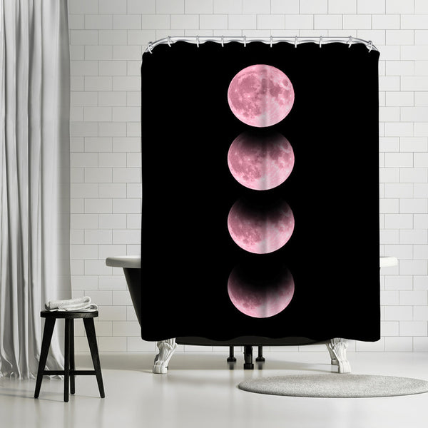 Pink Moon by Emanuela Carratoni Shower Curtain