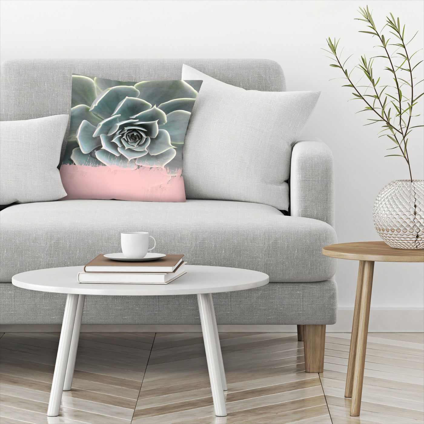 Pink On Succulent by Emanuela Carratoni Decorative Pillow - Decorative Pillow - Americanflat