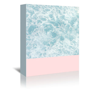 Pink On The Sea by Emanuela Carratoni Wrapped Canvas