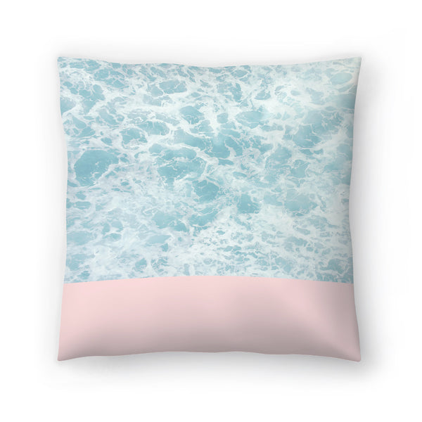 Pink On The Sea by Emanuela Carratoni Decorative Pillow