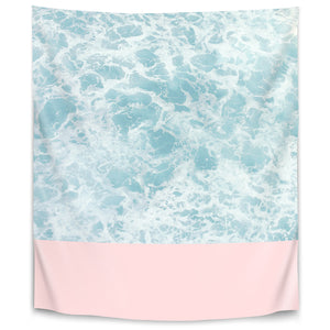 Pink On The Sea by Emanuela Carratoni Tapestry