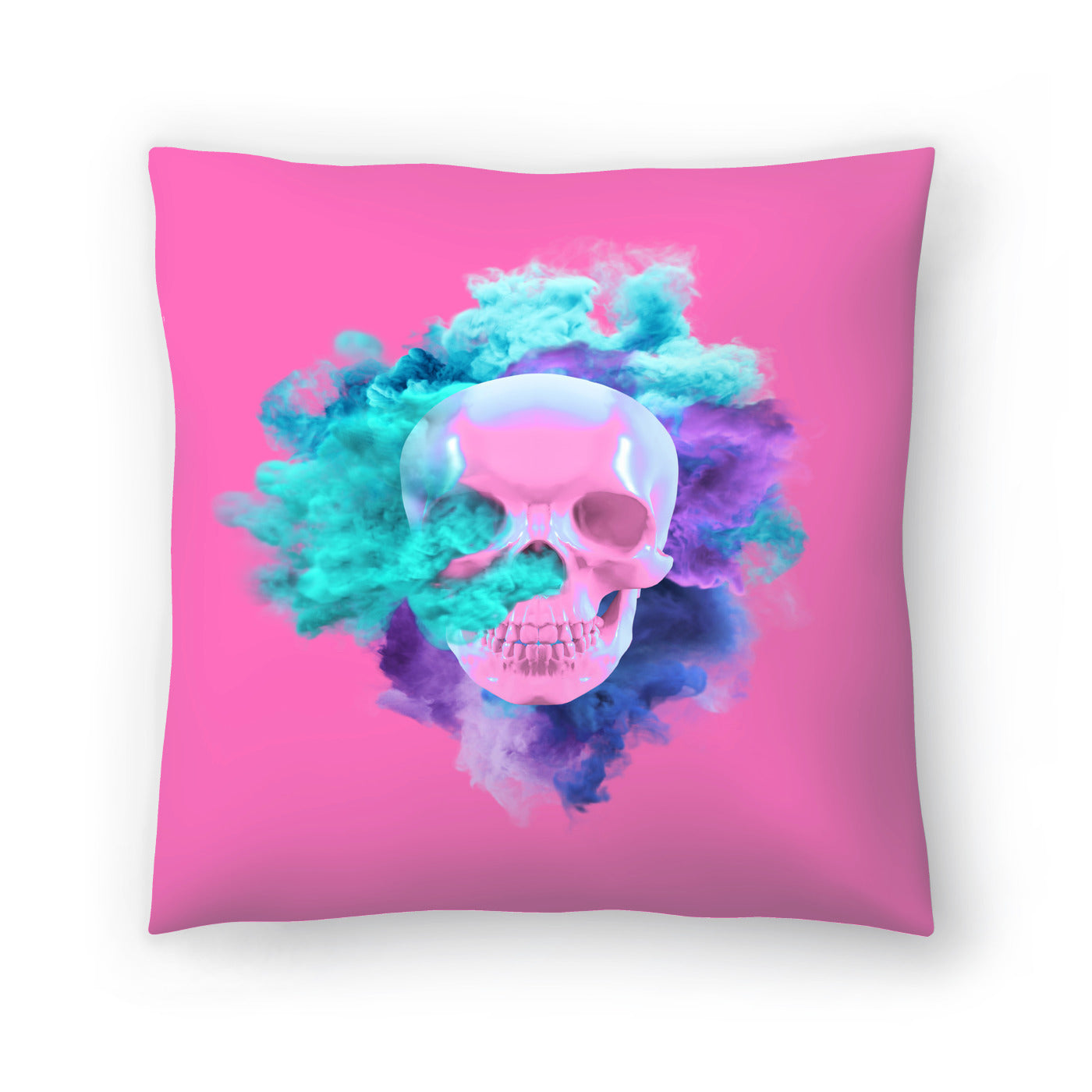 Pink Skull by Emanuela Carratoni Decorative Pillow - Decorative Pillow - Americanflat
