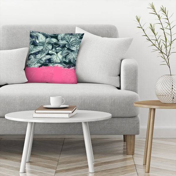 Pink Sorbet On Jungle by Emanuela Carratoni Decorative Pillow