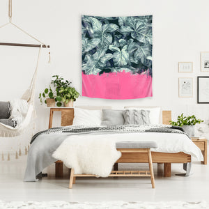 Pink Sorbet On Jungle by Emanuela Carratoni Tapestry