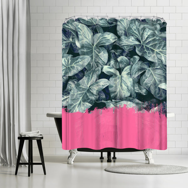 Pink Sorbet On Jungle by Emanuela Carratoni Shower Curtain