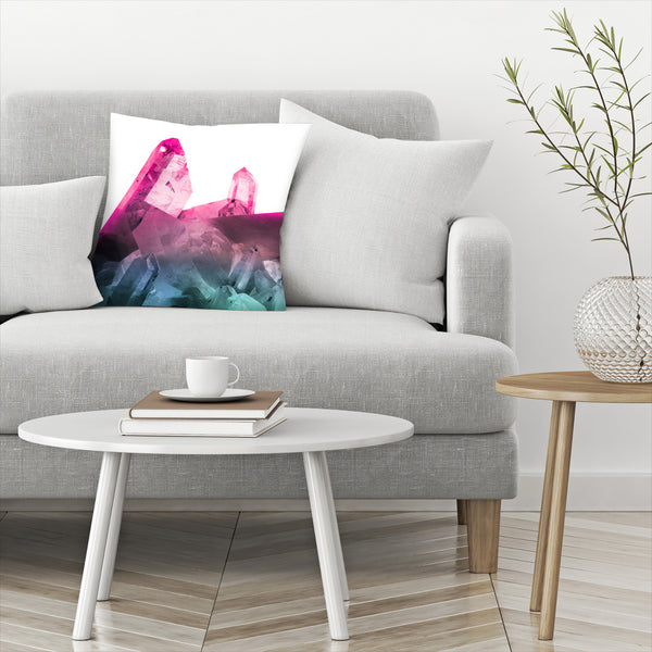 Rainbow Gems by Emanuela Carratoni Decorative Pillow