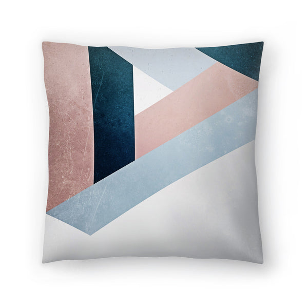 Raw Triangle by Emanuela Carratoni Decorative Pillow