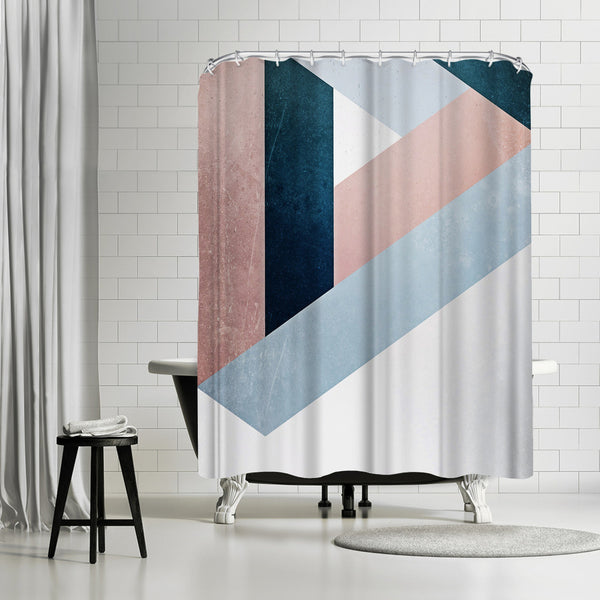 Raw Triangle by Emanuela Carratoni Shower Curtain