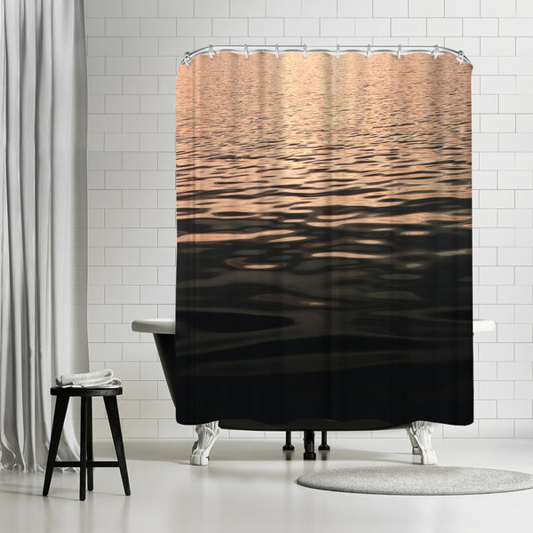 Rose Gold Sunset by Emanuela Carratoni Shower Curtain