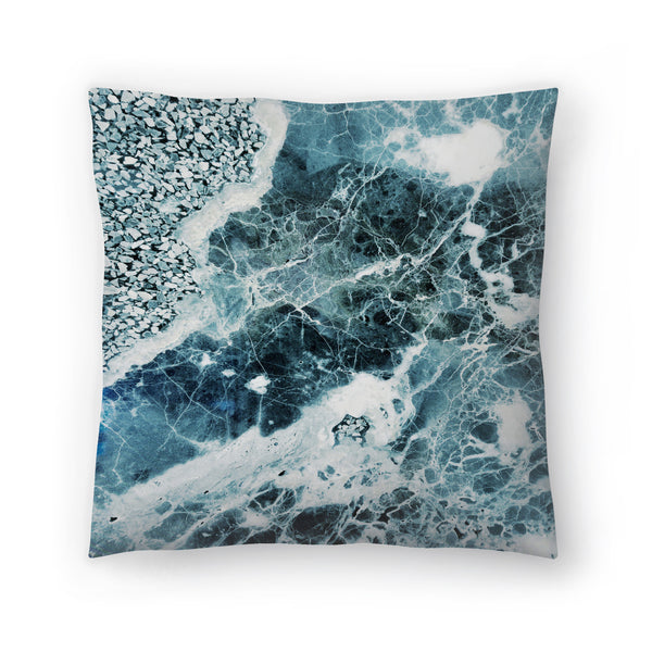 Sea Marble by Emanuela Carratoni Decorative Pillow