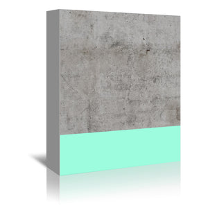 Sea On Concrete by Emanuela Carratoni Wrapped Canvas