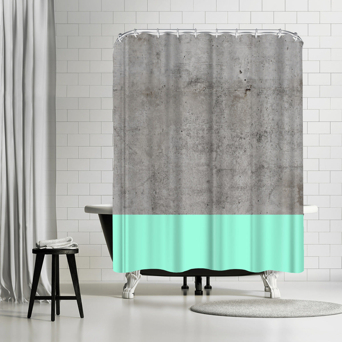 Sea On Concrete by Emanuela Carratoni Shower Curtain - Shower Curtain - Americanflat