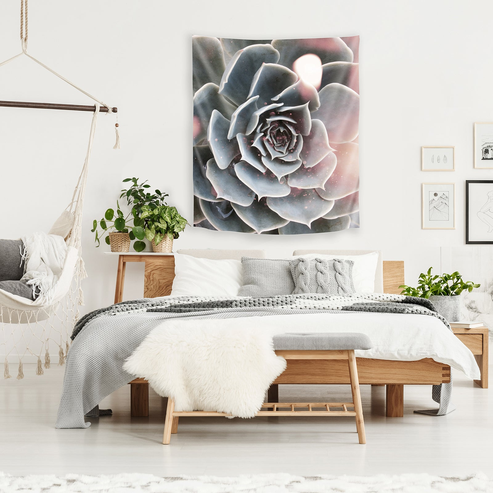 Shiny Succulent By Emanuela Carratoni Tapestry Americanflat
