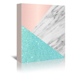 Spring Marble Collage by Emanuela Carratoni Wrapped Canvas