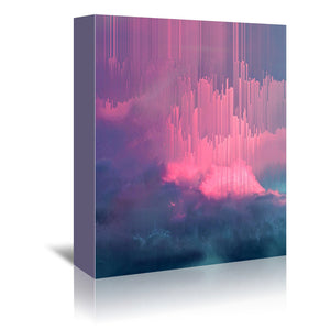 Stormy Glitches by Emanuela Carratoni Wrapped Canvas