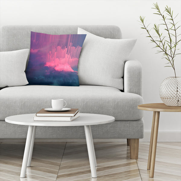 Stormy Glitches by Emanuela Carratoni Decorative Pillow