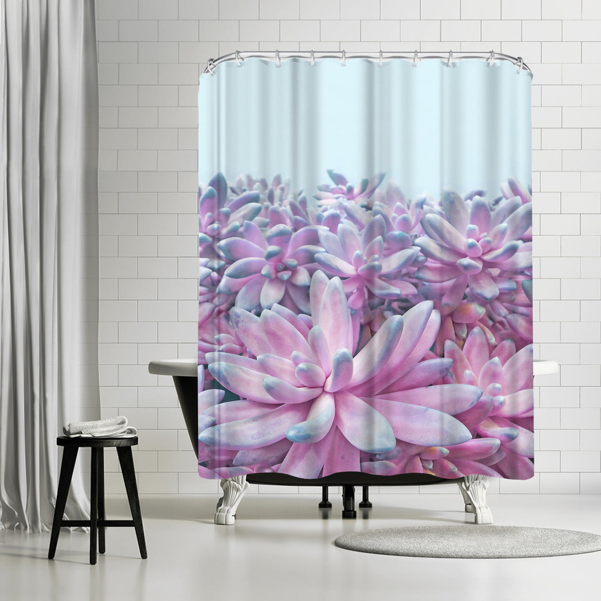 Sweet Succulent II By Emanuela Carratoni Shower Curtain - Shower Curtain - Americanflat