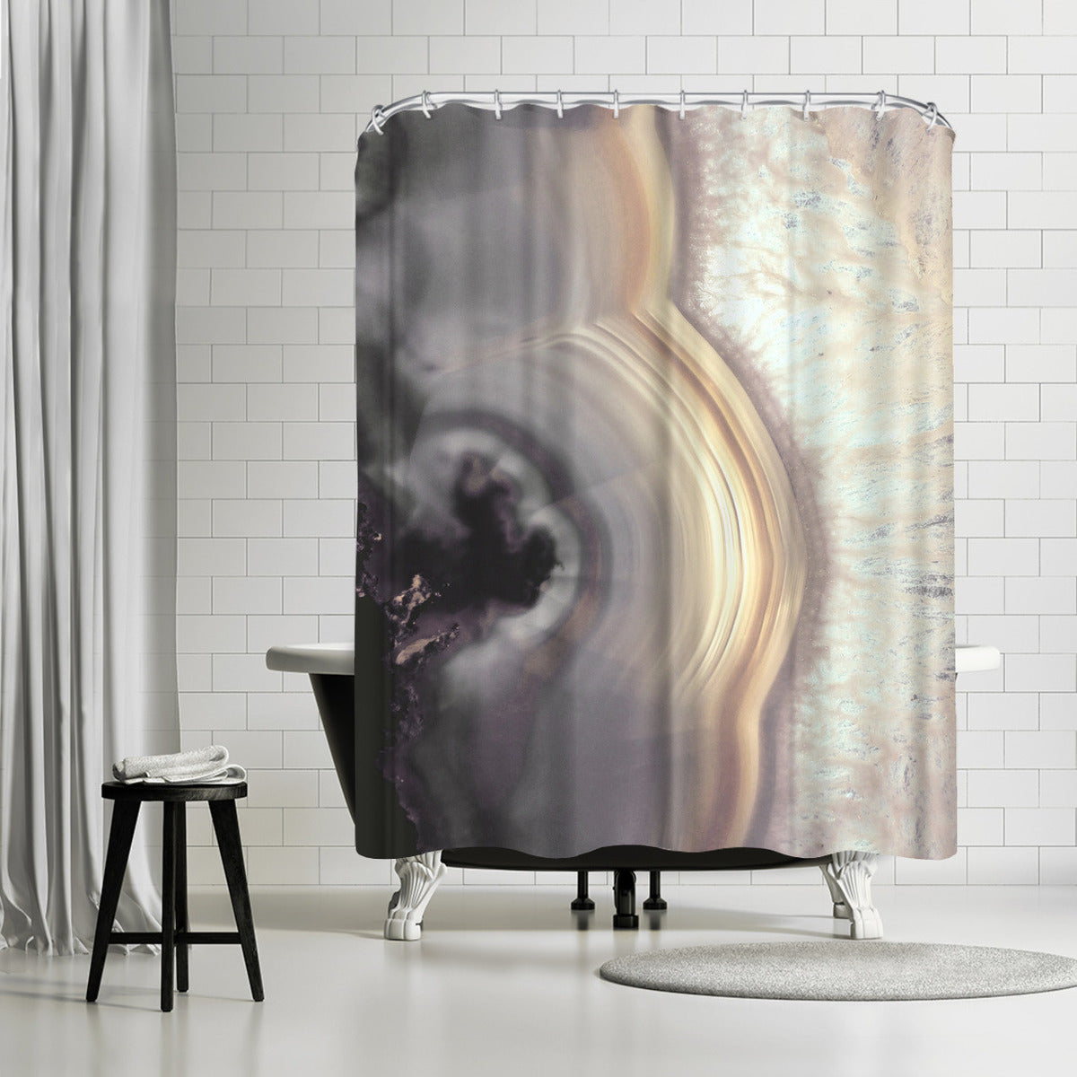 Taupe Agate by Emanuela Carratoni Shower Curtain -  - Americanflat