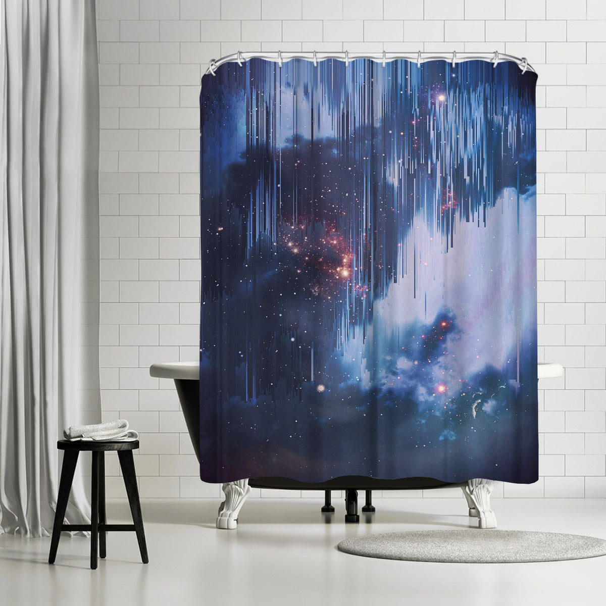 Twinkle Little Stars by Emanuela Carratoni Shower Curtain -  - Americanflat