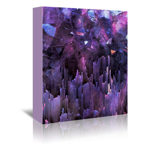 Ultraviolet Crystals by Emanuela Carratoni Wrapped Canvas