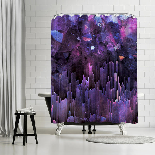 Ultraviolet Crystals by Emanuela Carratoni Shower Curtain