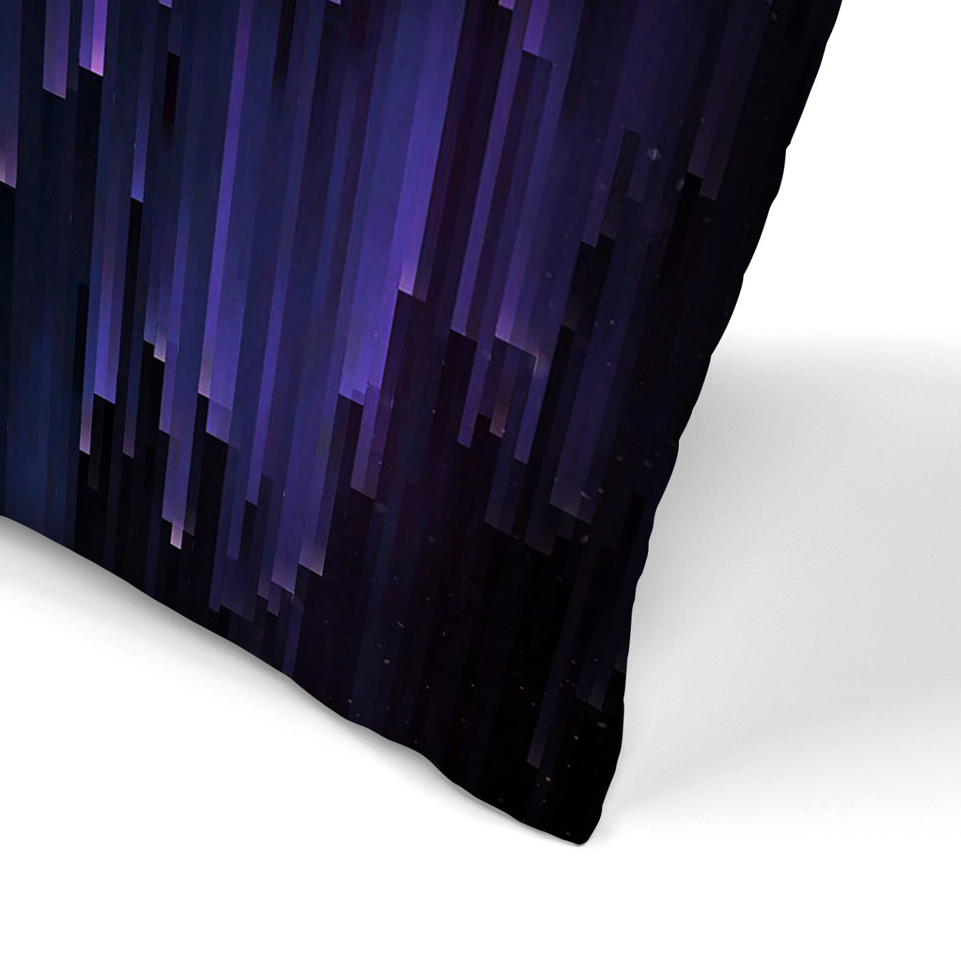 Ultraviolet Glitch Galaxy by Emanuela Carratoni Decorative Pillow - Decorative Pillow - Americanflat