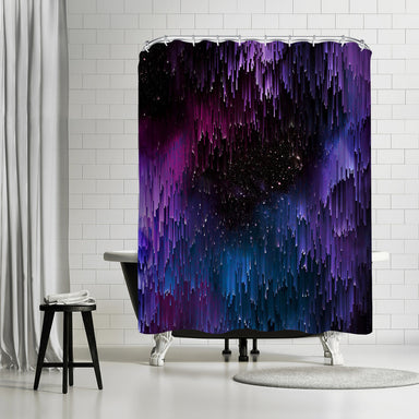 Ultraviolet Glitch Galaxy by Emanuela Carratoni Shower Curtain -  - Americanflat
