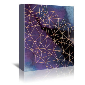 Ultraviolet Storm by Emanuela Carratoni Wrapped Canvas