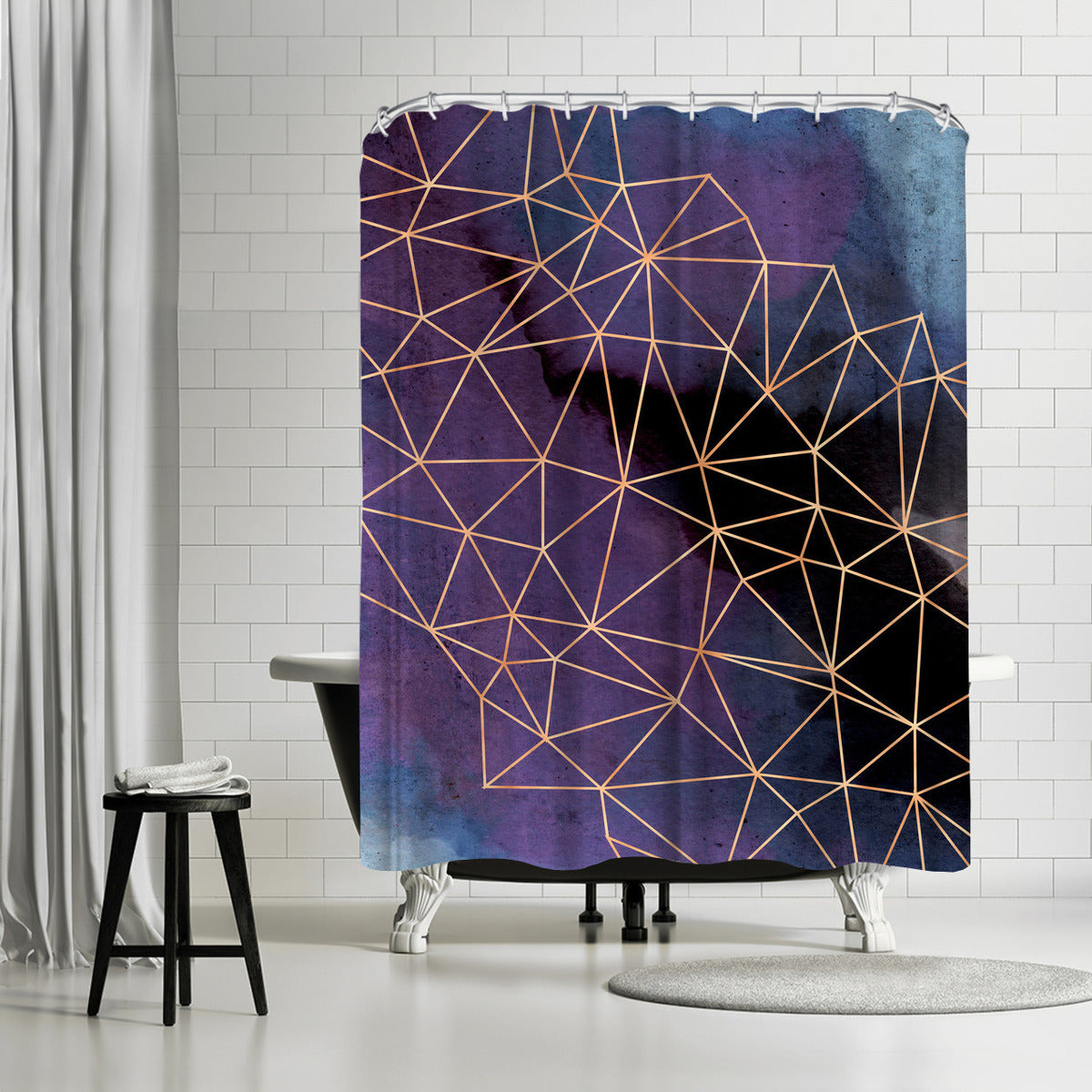 Ultraviolet Storm by Emanuela Carratoni Shower Curtain