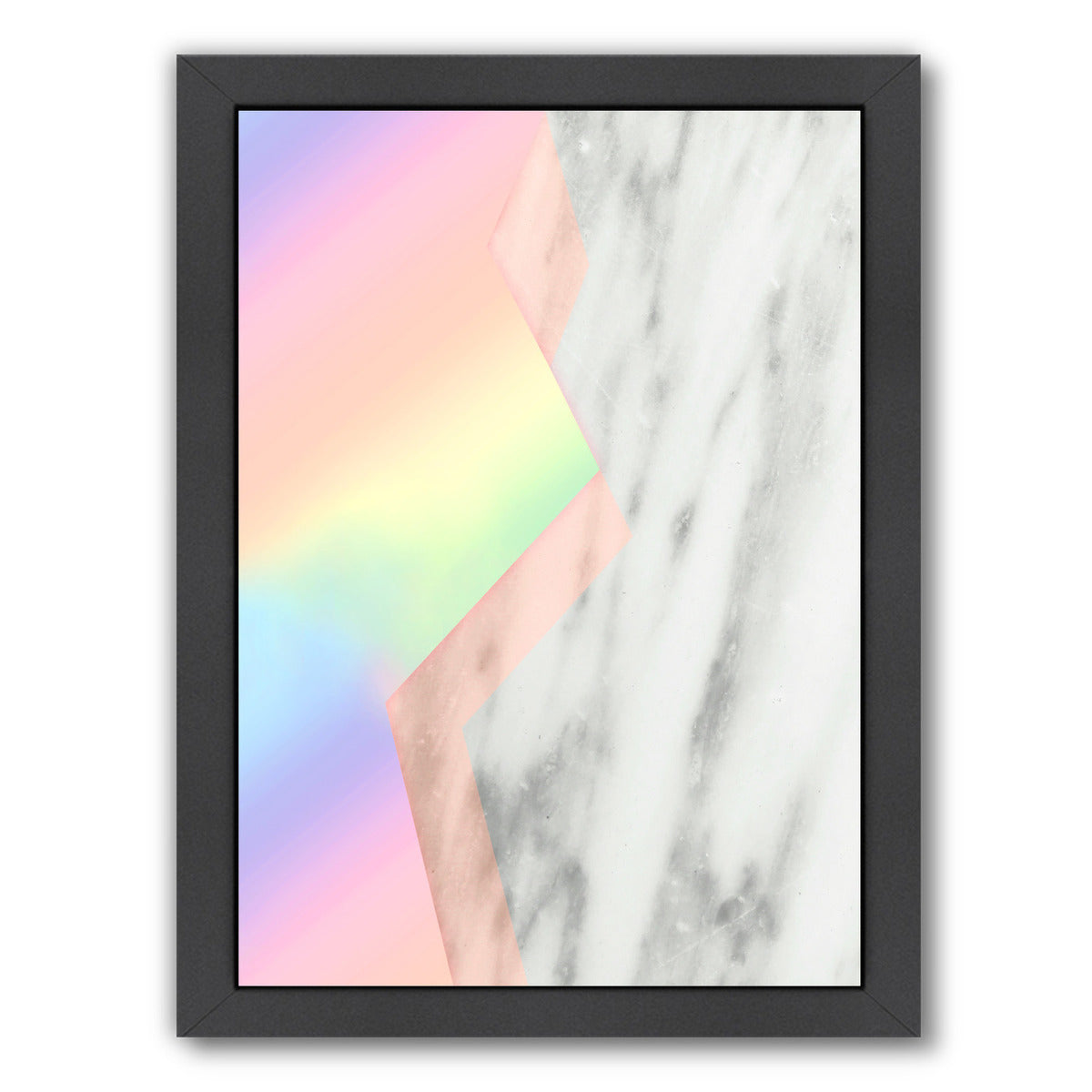Unicorn Marble by Emanuela Carratoni Black Framed Print - Americanflat