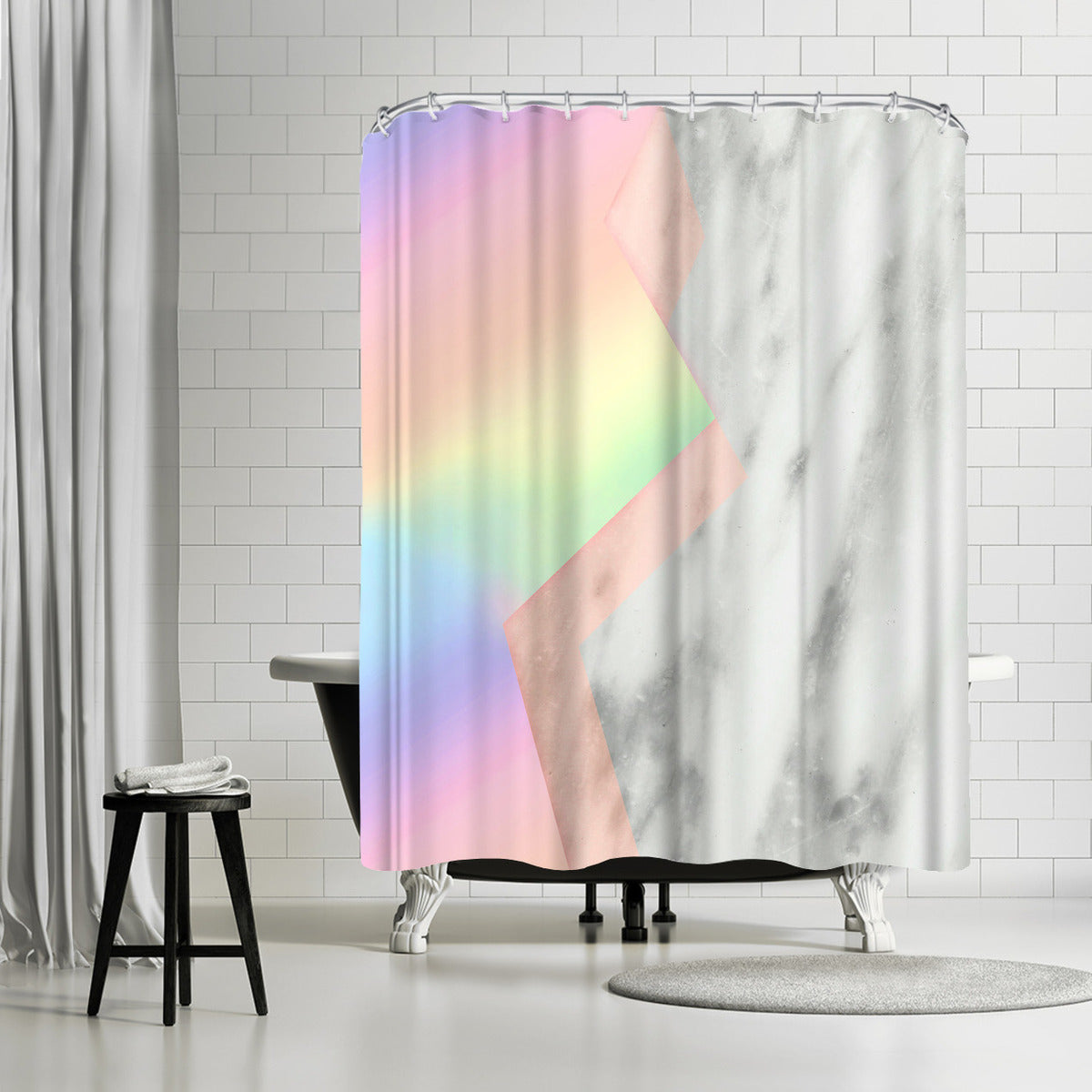 Unicorn Marble by Emanuela Carratoni Shower Curtain - Shower Curtain - Americanflat