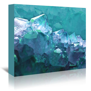 Water Crystals by Emanuela Carratoni Wrapped Canvas
