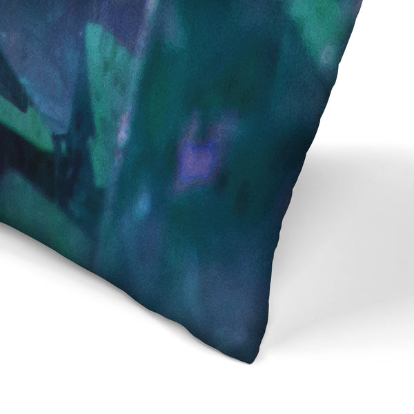 Water Crystals by Emanuela Carratoni Decorative Pillow