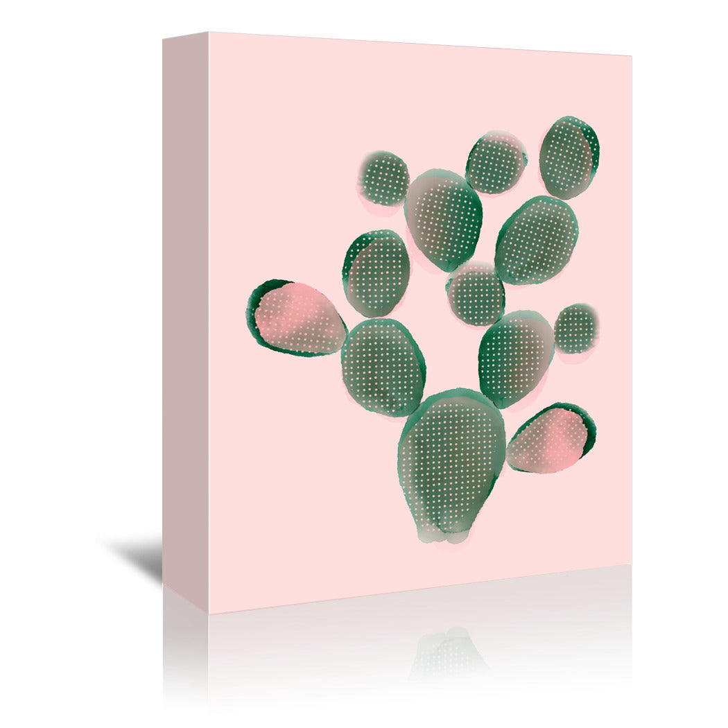 Watercolor Cactus by Emanuela Carratoni Wrapped Canvas - Wrapped Canvas - Americanflat