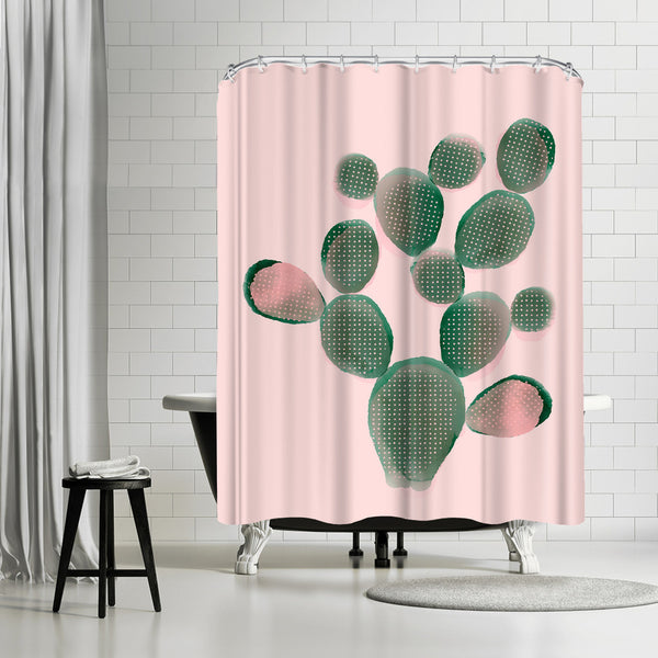 Watercolored Cactus by Emanuela Carratoni Shower Curtain