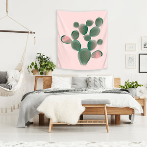 Watercolored Cactus by Emanuela Carratoni Tapestry