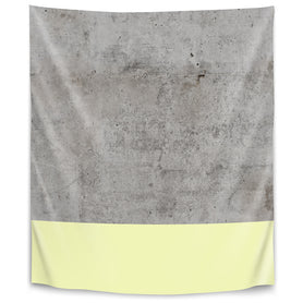 Yellow On Concrete by Emanuela Carratoni Tapestry